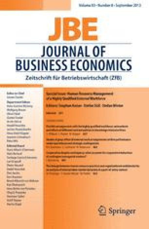 Journal Of Business Economics Home
