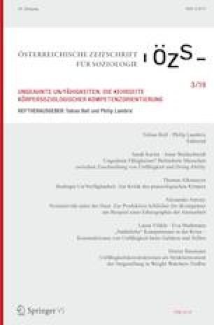 Titelblatt ÖZS Sonderheft Ungeahnte Unfähigkeiten