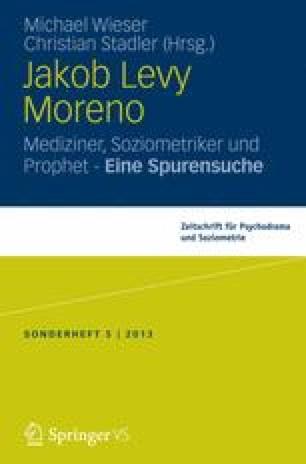 Jakob Levy Moreno Ein Prophet Unserer Zeit Springerlink