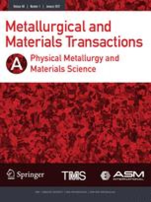 Metallurgical and Materials Transactions A