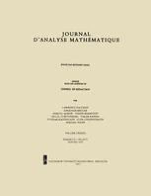 Journal d'Analyse Mathématique