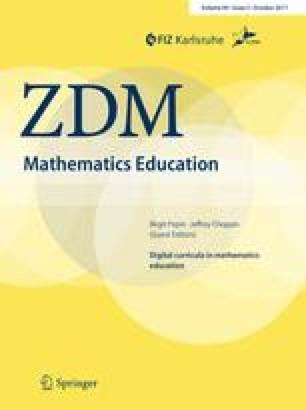 Digital curriculum resources in mathematics education