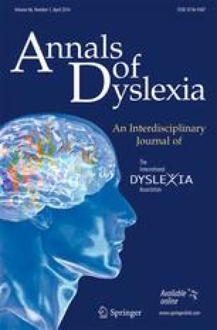 Annals of Dyslexia