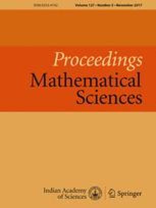 Proceedings - Mathematical Sciences