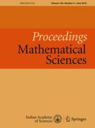 Proceedings - Mathematical Sciences