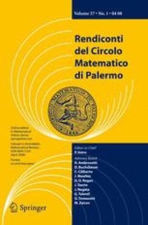 Rendiconti del Circolo Matematico di Palermo Series 2
