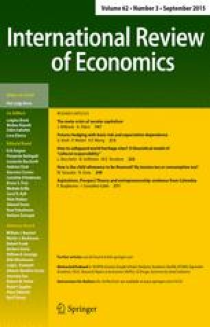 International Review of Economics - Springer