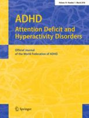 Perception in attention deficit hyperactivity disorder