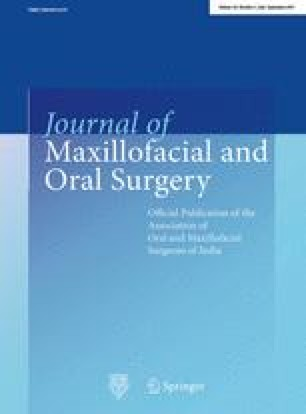 Journal of Maxillofacial and Oral Surgery