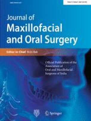 Journal of Maxillofacial and Oral Surgery