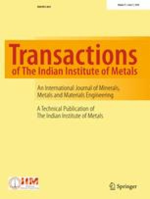 Transactions of the Indian Institute of Metals