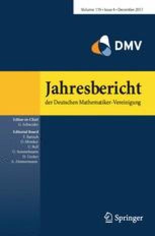 Jahresbericht der Deutschen Mathematiker-Vereinigung a56b0185c97a