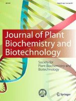 Journal of Plant Biochemistry and Biotechnology