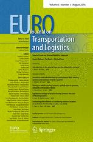 Introduction to the special issue on shared mobility systems