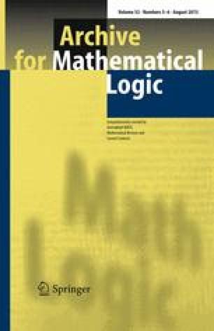 Archiv für mathematische Logik und Grundlagenforschung