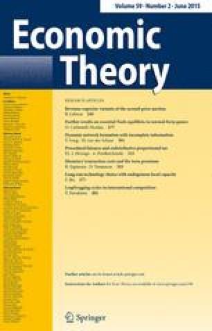 economic theory springer