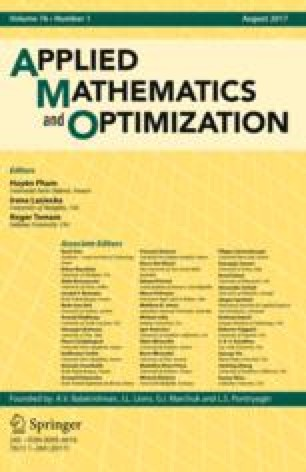 Applied Mathematics and Optimization