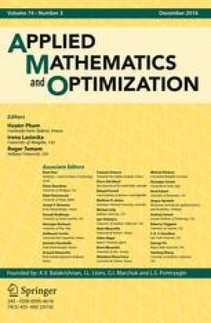 Applied Mathematics & Optimization