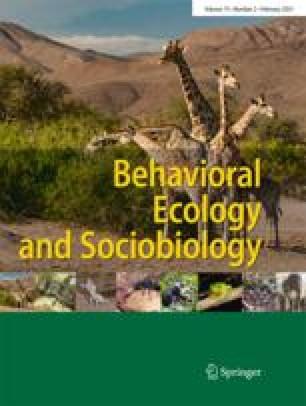 Behavioral Ecology and Sociobiology