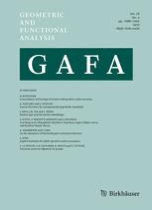 GAFA Geometric And Functional Analysis