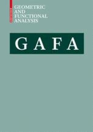 Geometric and Functional Analysis