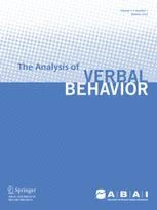 The Analysis of Verbal Behavior