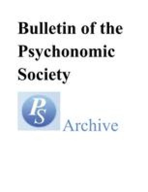 Bulletin of the Psychonomic Society