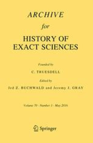 Archive for History of Exact Sciences