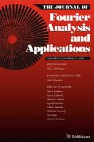 Journal of Fourier Analysis and Applications
