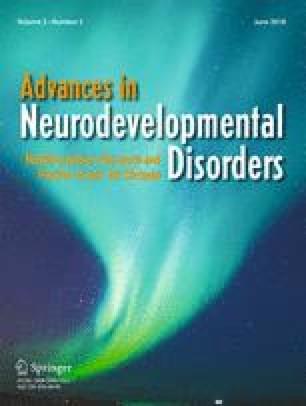 Advances in Neurodevelopmental Disorders