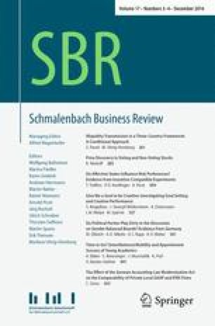 Schmalenbach Business Review