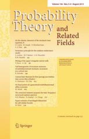 Zeitschrift für Wahrscheinlichkeitstheorie und Verwandte Gebiete