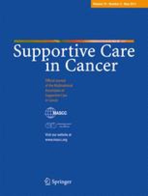 Supportive Care in Cancer