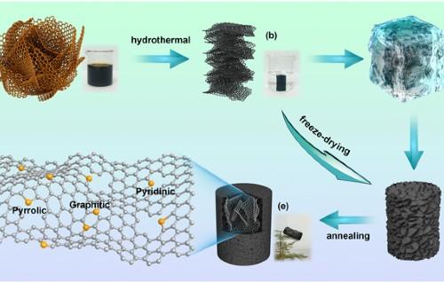 3D free-standing nitrogen-doped reduced graphene oxide