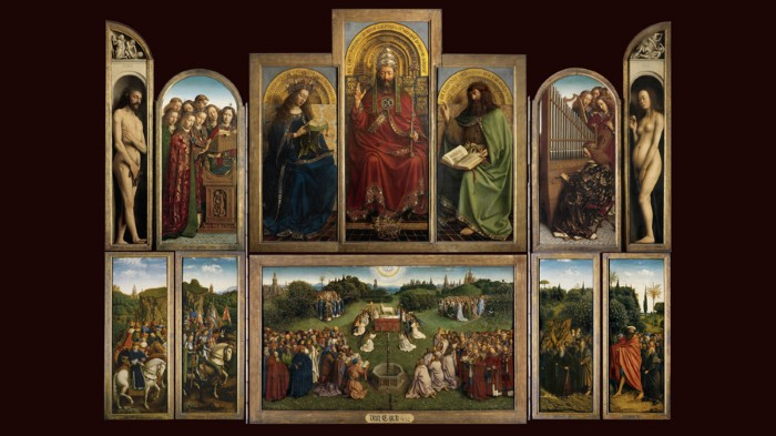 The Ghent Altarpiece is considered to be a masterpiece of European mediaeval painting.
