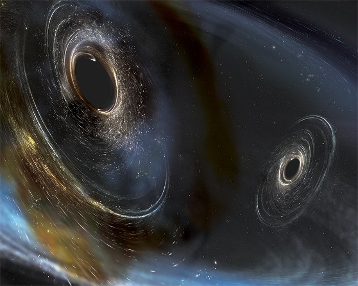 Ligo spots gravitational waves for third time for Space time fabric black hole