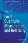 Local Quantum Measurement and Relativity
