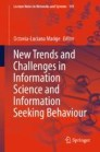 New Trends and Challenges in Information Science and Information Seeking Behavior