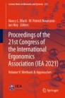 Proceedings of the 21st Congress of the International Ergonomics Association (IEA 2021)