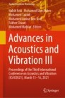 Advances in Acoustics and Vibration III