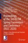 Proceedings of the 3rd RILEM Spring Convention and Conference (RSCC 2020)