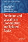 Prediction and Causality in Econometrics and Related Topics