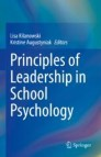 Principles of Leadership in School Psychology