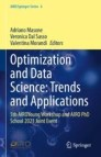 Optimization and Data Science: Trends and Applications