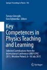 Key Competences in Physics Teaching and Learning