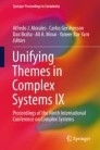 Unifying Themes in Complex Systems IX