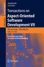 Transactions on Aspect-Oriented Software Development VII