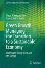 Green Growth: Managing the Transition to a Sustainable Economy