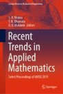 Recent Trends in Applied Mathematics