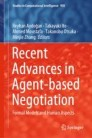 Recent Advances in Agent-based Negotiation